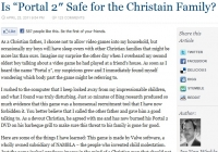 Is Portal 2 safe for a Christian family?