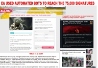 Web of Lies: EA Petition Being Vote Stuffed with Spambots?